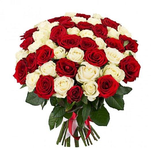 Букет 50/50: букеты цветов на заказ Flowwow