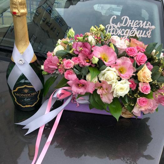 Букет в ящике Райское наслаждение: букеты цветов на заказ Flowwow