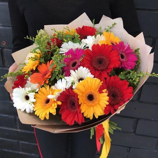 Герберы 25 шт: букеты цветов на заказ Flowwow