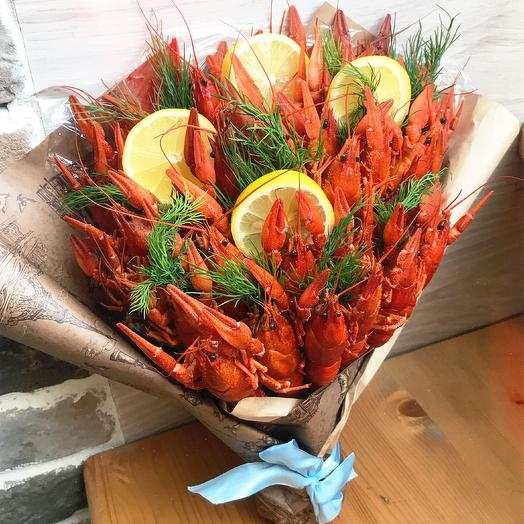Букет из раков «Мужчине»: букеты цветов на заказ Flowwow
