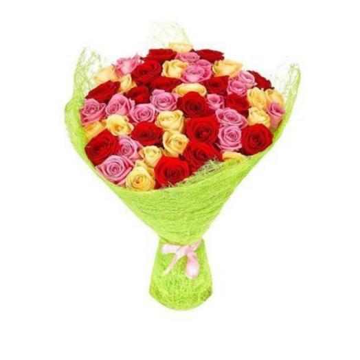 Букет из 41 розы микс: букеты цветов на заказ Flowwow