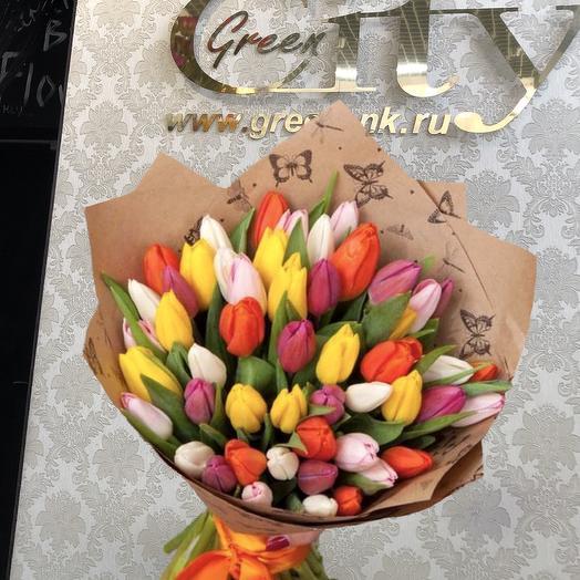 Тюльпаны Радуга