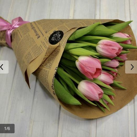 Свёрток с тюльпанами