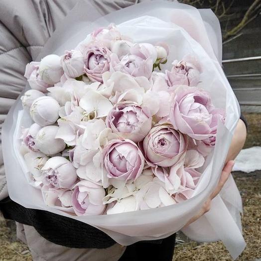 Букет « Розовое счастье»: букеты цветов на заказ Flowwow