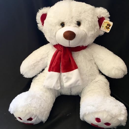 Плюшевый белый медведь Кельвин