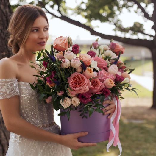 """Букет в коробке """"Свадебный"""": букеты цветов на заказ Flowwow"""