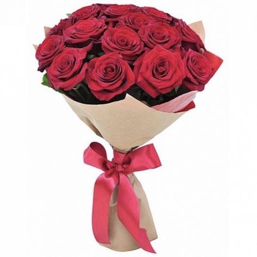 Классический букет 💐 из 15 красных роз: букеты цветов на заказ Flowwow