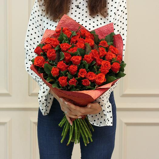 "Букет из ""39 красных махровых роз"": букеты цветов на заказ Flowwow"