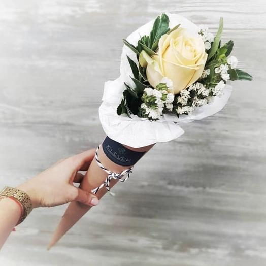 Роза в рожке