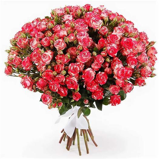 Кустовые розы 75 шт: букеты цветов на заказ Flowwow