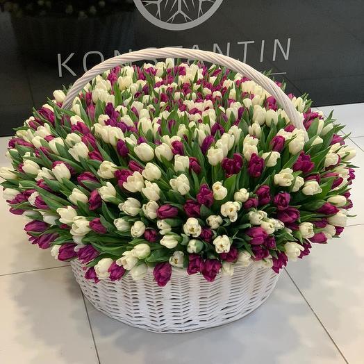 """1001 тюльпан """"Маме в знак глубокого уважения и любви"""""""