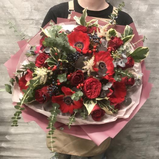 Букет «Красный бархат»: букеты цветов на заказ Flowwow