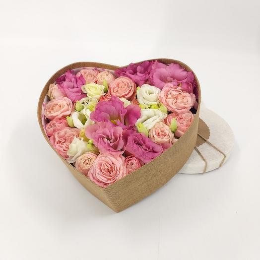 """Цветочная композиция """"сердце"""": букеты цветов на заказ Flowwow"""