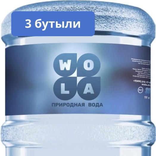 Комплект природной воды, высшая категория, 3 бутыли, тара многооборотная