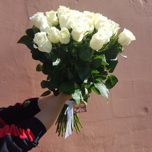 Элит 25 белых роз