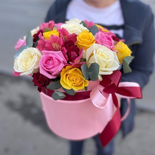Цветы в коробке « Мелодия»
