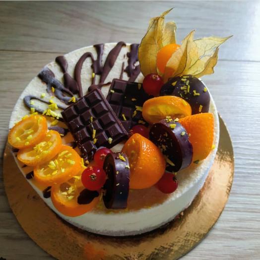 Торт Rawcake апельсин-шоколад