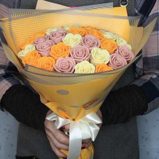 Шоколадные розы микс