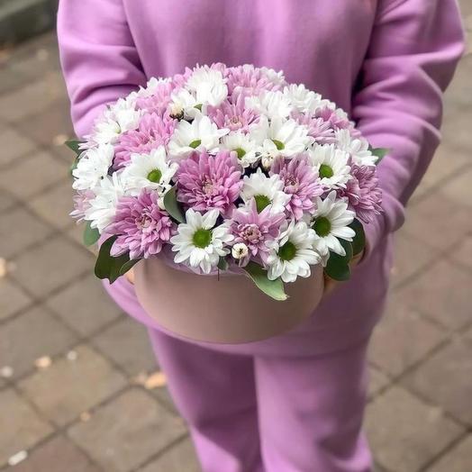 Коробочка с хризантемами
