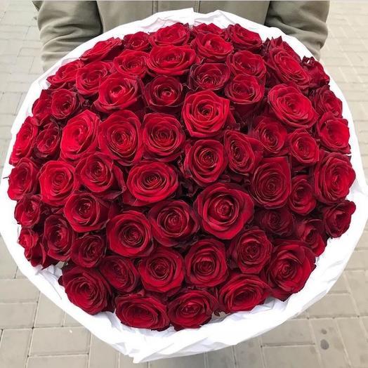 55 Алых Роз (60см)