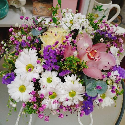 Цветы в сумочке WOW