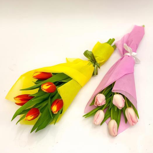 5 тюльпанов микс