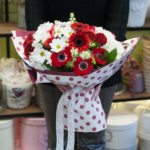 Букет цветов Принцесса на горошине