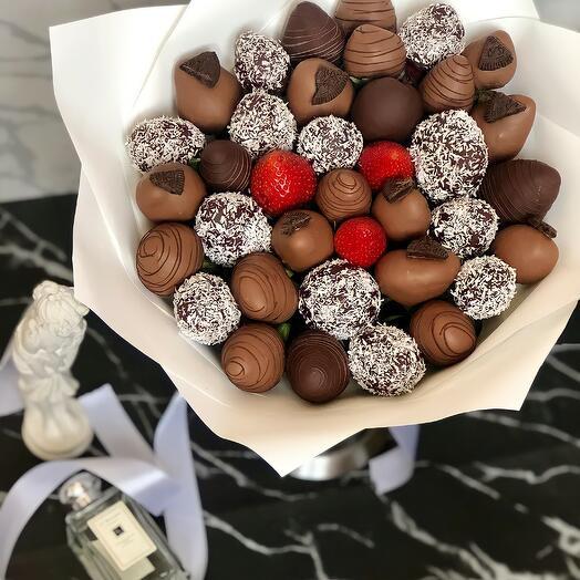 Букет из Клубники в Шоколаде 91