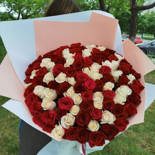 101 роза вау бомба высокие