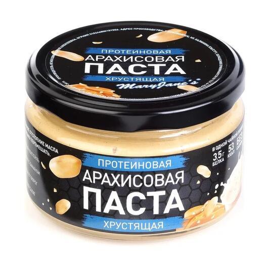 Протеиновая арахисовая паста хрустящая