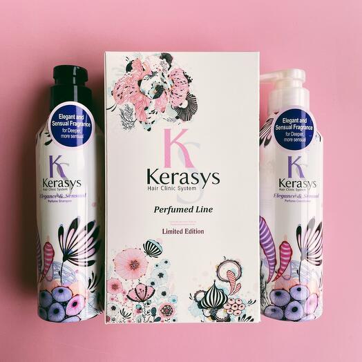 Набор Kerasys Шампунь+Кондиционер для волос Элеганс 400 мл Для тонких и ослабленных волос