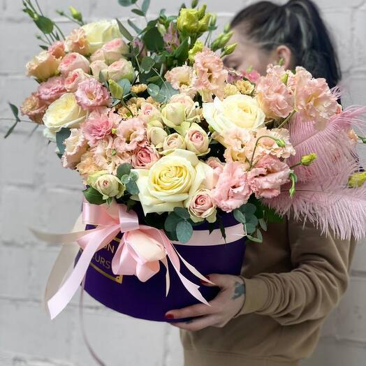 Цветы в коробке «Амметист»