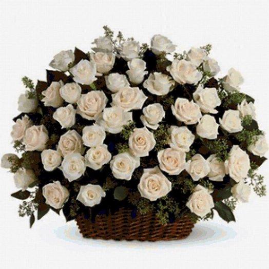 Корзина 101 роза