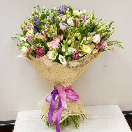 Букет из лизиантусов Лизиантус микс: букеты цветов на заказ Flowwow