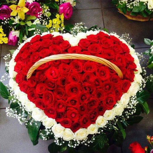 Заветное сердце: букеты цветов на заказ Flowwow