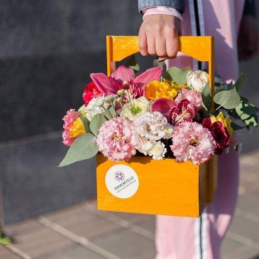 Ящик Настроение: букеты цветов на заказ Flowwow