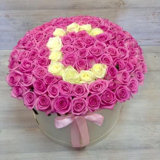 101 роза с буквой : букеты цветов на заказ Flowwow
