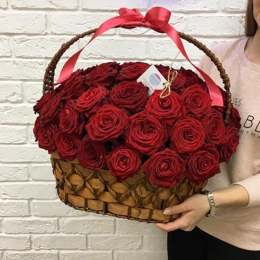 "Корзина ""Яркие Чувства"": букеты цветов на заказ Flowwow"