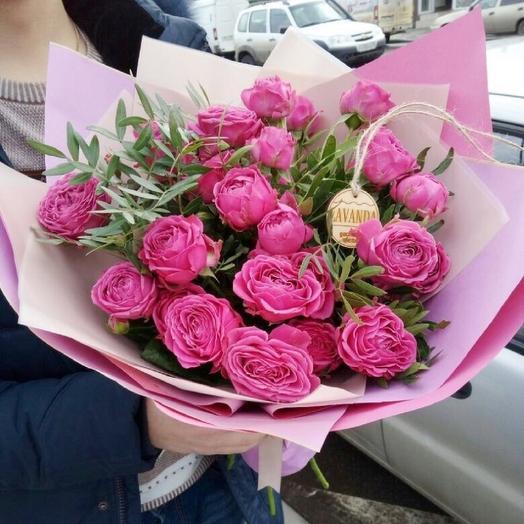 """Букет пионовидных роз """"Восторг"""": букеты цветов на заказ Flowwow"""