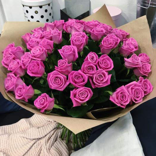 Огромный букет розовых роз: букеты цветов на заказ Flowwow