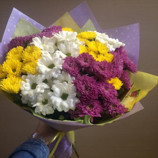 9 хризантем: букеты цветов на заказ Flowwow