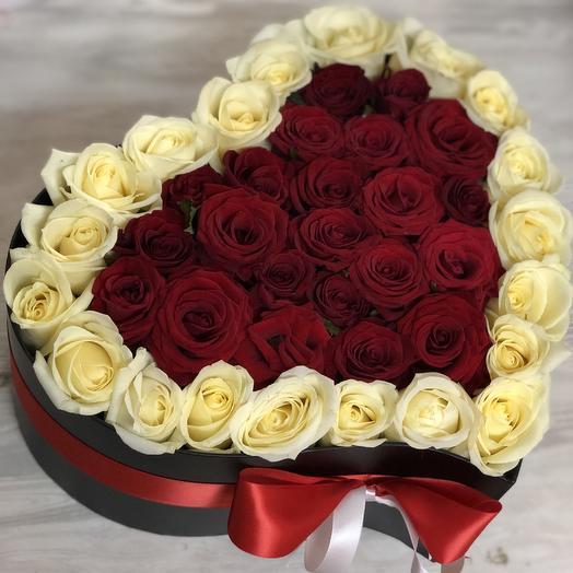 Сердце любимой: букеты цветов на заказ Flowwow