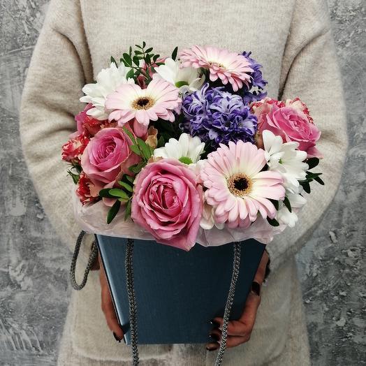 """Композиция из гиацинтов, гермини,роз """"Моя нежность"""": букеты цветов на заказ Flowwow"""