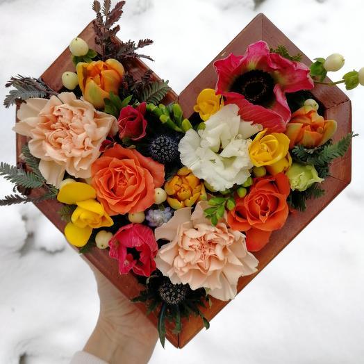 Сердце красноречивое: букеты цветов на заказ Flowwow