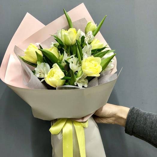 Лимонный щербет: букеты цветов на заказ Flowwow