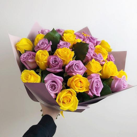 """Bouquet """"Bright emotions"""": flowers to order Flowwow"""