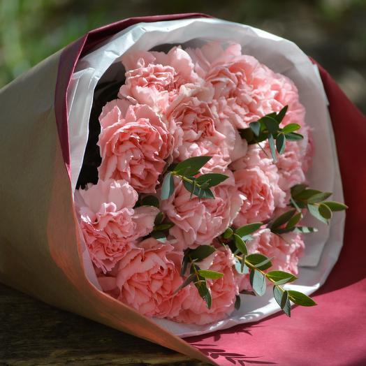 Розовые гвоздики: букеты цветов на заказ Flowwow