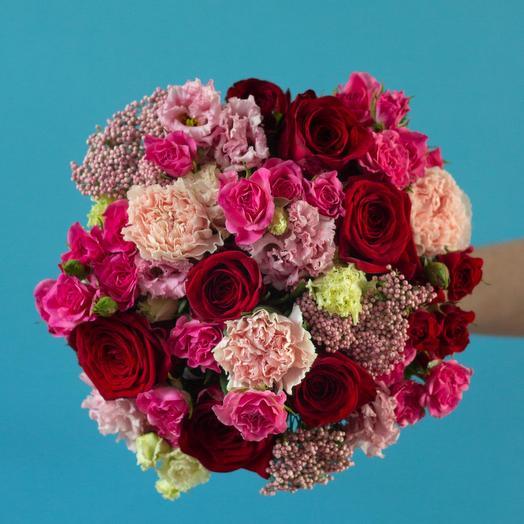 Розы ред наоми и озотамнус: букеты цветов на заказ Flowwow