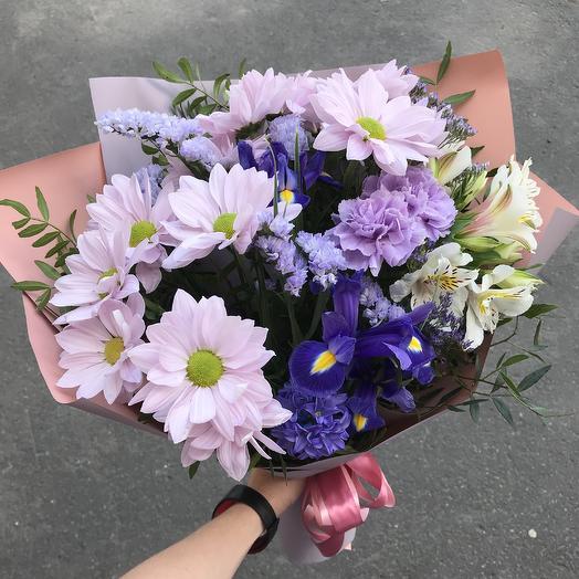 Утро в Париже - сборный букет: букеты цветов на заказ Flowwow