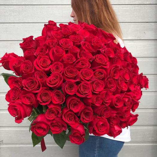 101 роза премиум-класса: букеты цветов на заказ Flowwow